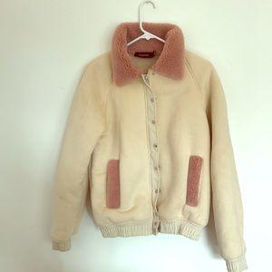 Mink Pink Beige/pink Suede Jacket